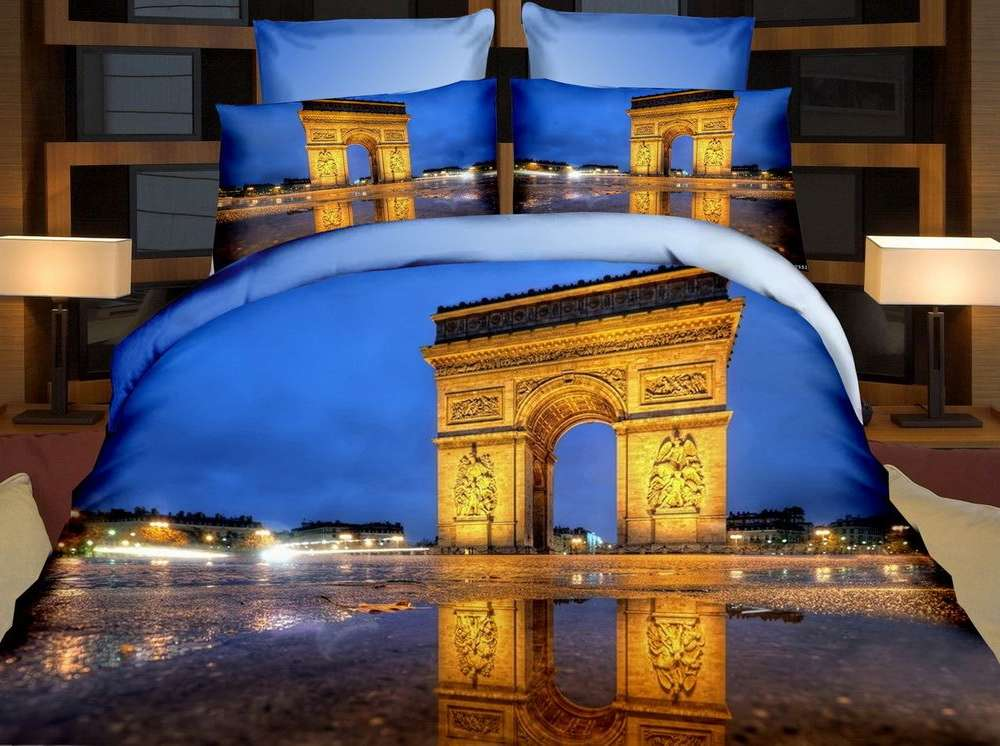 Pościel z mikrofibry, 3D, Paryż