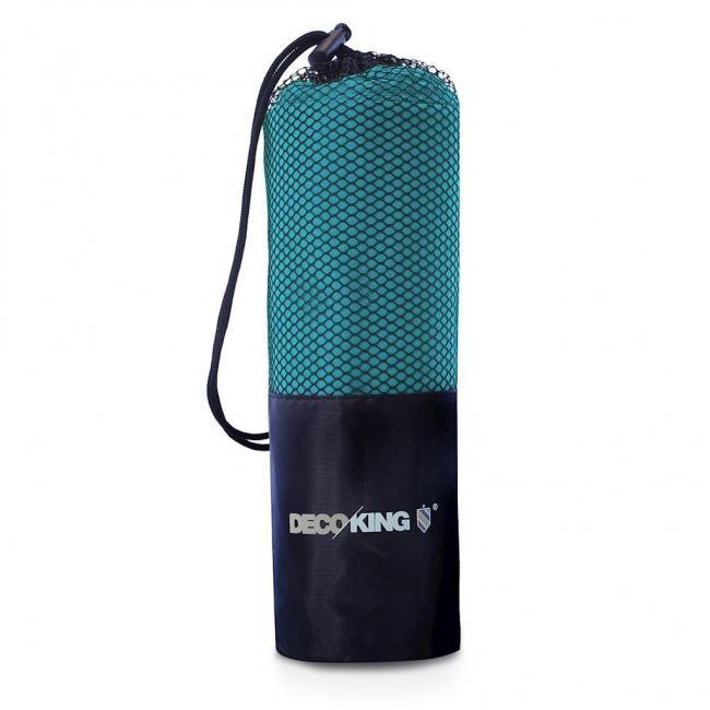 DecoKing - Ręcznik z mikrofibry, szybkoschnący, turkusowy - różne rozmiary