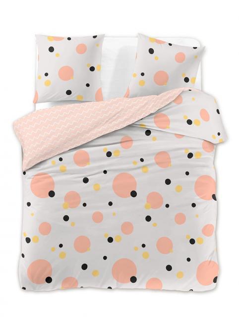 DecoKing - Pościel z bawełny 100%, biało-różowe, wzory geometryczne, różne rozmiary