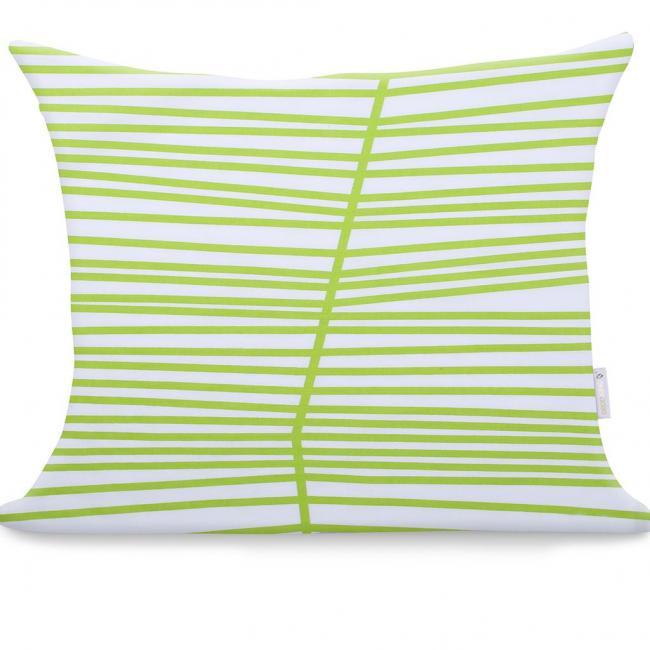 DecoKing - Poszewka z bawełny, biała, wzory, 50x60cm - 2 sztuki