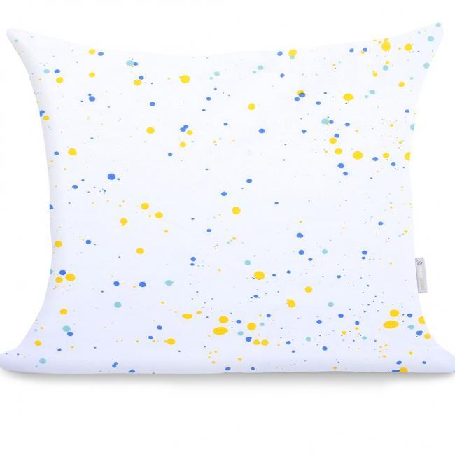 DecoKing - Poszewka z bawełny, biało-niebieska, wzory, 60x50cm - 2 sztuki