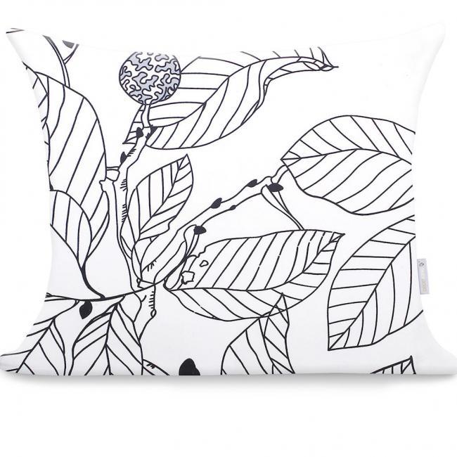 DecoKing - Poszewka z bawełny, szara, wzory, 50x60cm - 2 sztuki