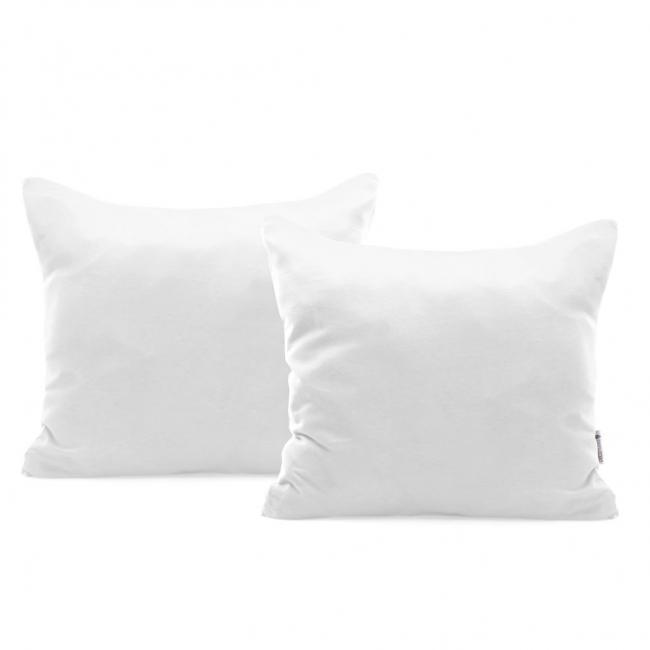 DecoKing - Poszewka  z bawełny, biała, 40x40 - 2 sztuki