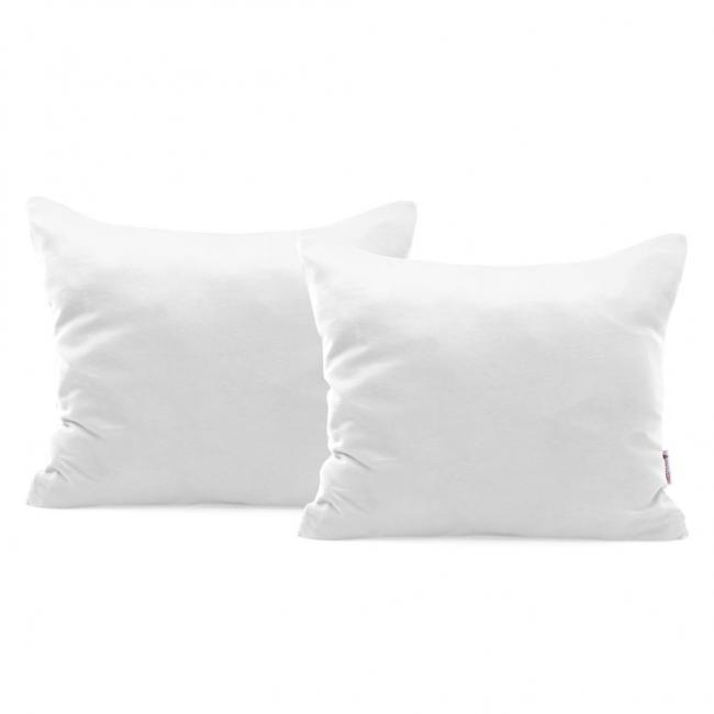 DecoKing - Poszewka  z bawełny, biała, 50x60cm - 2 sztuki