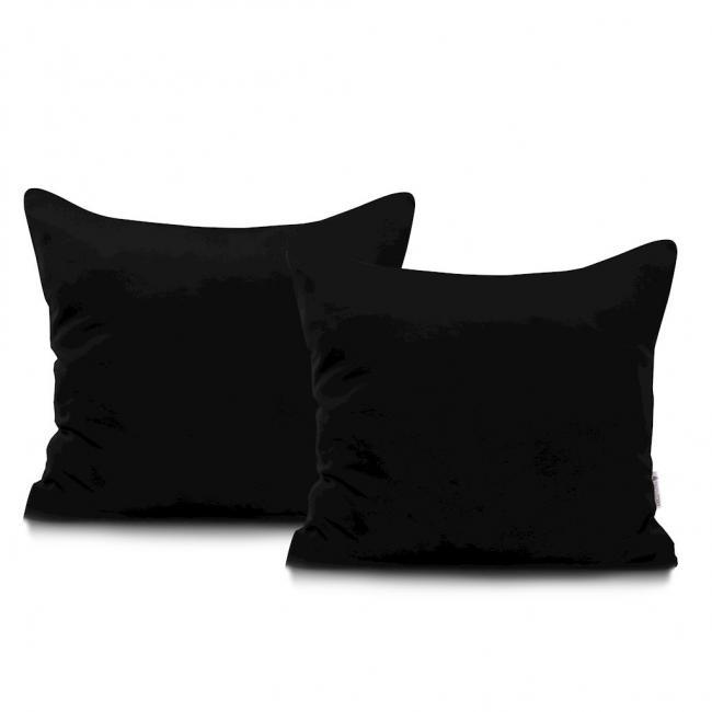 DecoKing - Poszewka  z bawełny, czarnam 40x40 - 2 sztuki