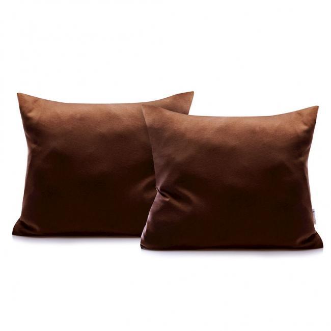 DecoKing - Poszewka  z bawełny, brązowa, 50x60 - 2 sztuki