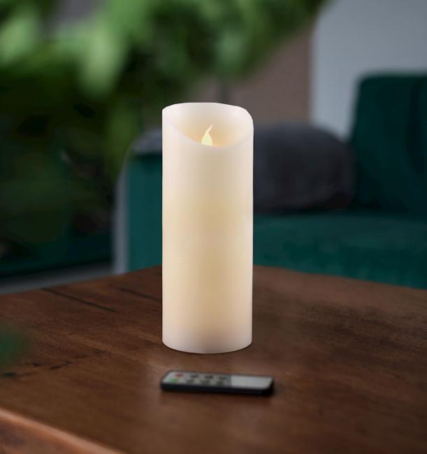 Świeczka LED, parafina, 20 cm
