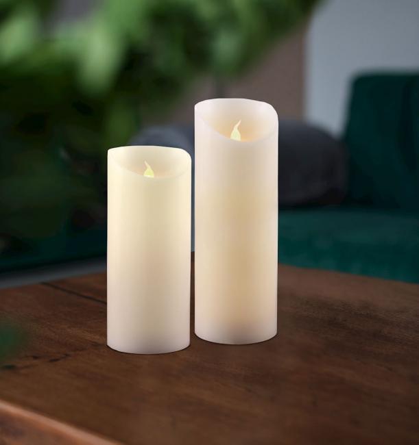Świeczka LED, parafina - zestaw 2 szt