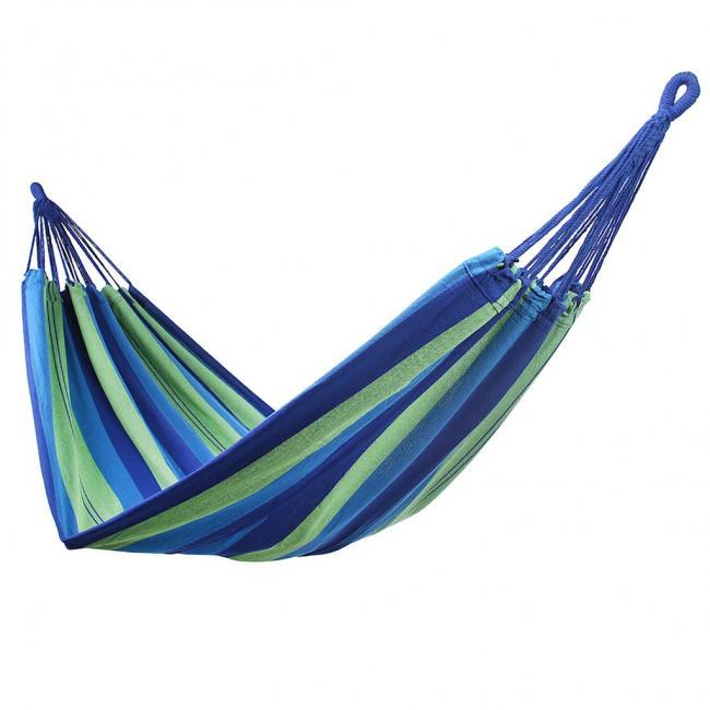 DecoKing - Hamak  dwuosobowy, 210x150cm, zielono-niebieski