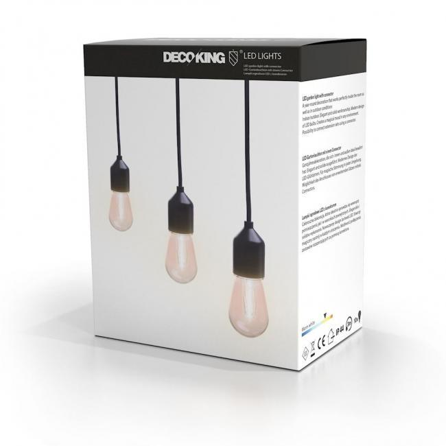 DecoKing - Lampki ogrodowe LED z konektorem