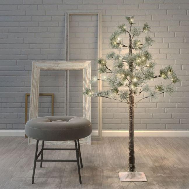 DecoKing - Drzewko LED – Sosna Śnieżna - 1m