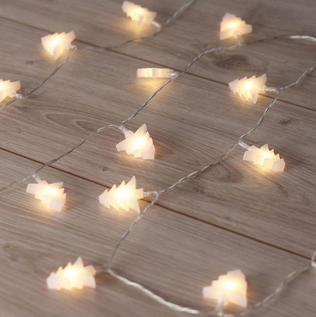 DecoKing - Lampki LED w kształcie choinek