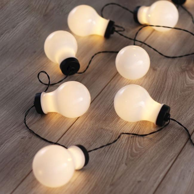 Dekoracyjne lampki LED Cocco w kształcie żarówki –
