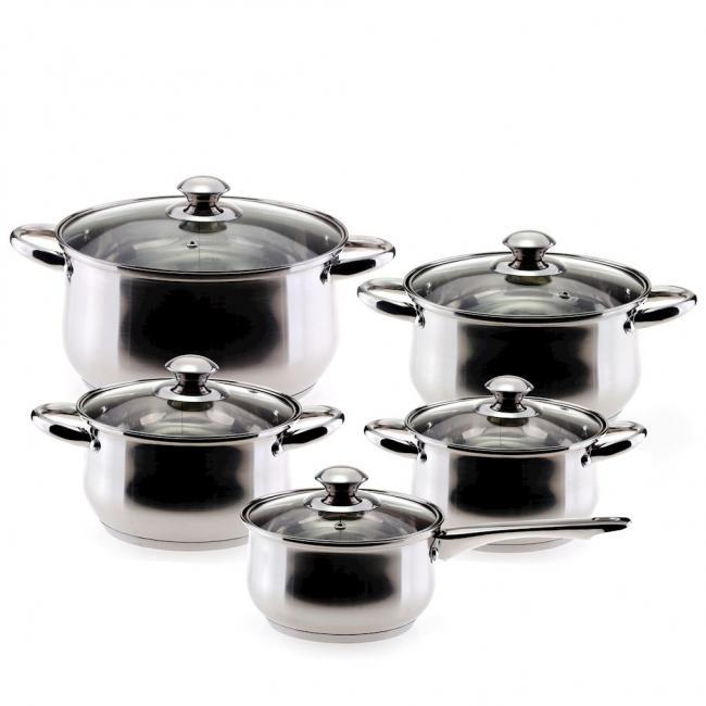DecoKing - Garnki  - zestaw 5 sztuk 1,9L/1,9L/2,6L/3,6L/6,1L