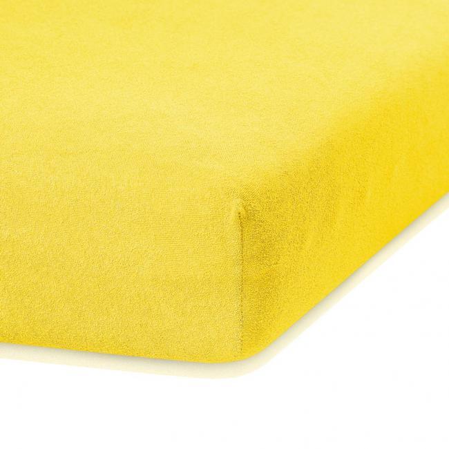 Amelia Home - Prześcieradło frotte, z gumką, żółty, różne rozmiary