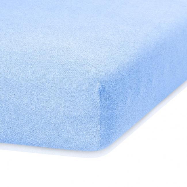 Amelia Home - Prześcieradło frotte, z gumką, niebieski, różne rozmiary