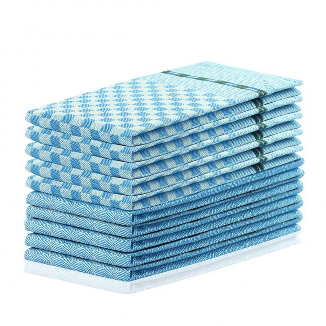 DecoKing - Ścierki  kuchenne niebieskie - 10 sztuk