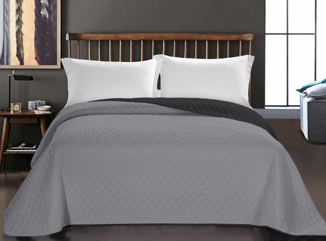 Deco King - narzuta na łóżko,  czarno-srebrna, różne rozmiary