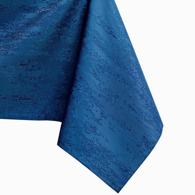 AmeliaHome - Obrus plamoodporny  - OKRĄGŁY - wzór wężowy - niebieski - różne rozmiary