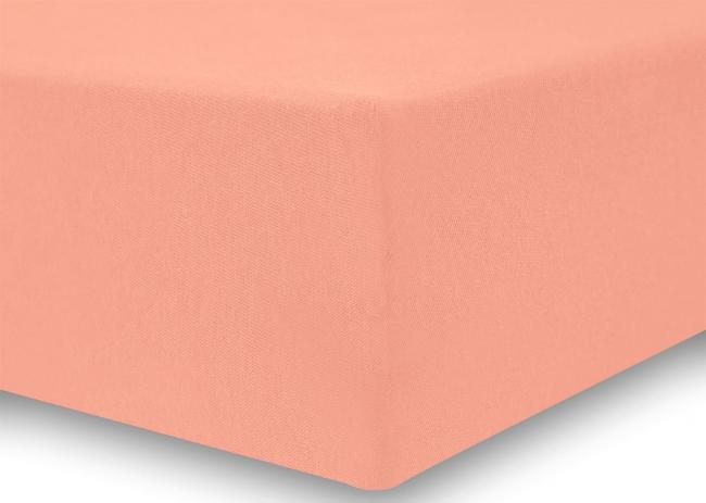 DecoKing - Prześcieradło z bawełny, gumki, brzoskwiniowe - różne rozmiary