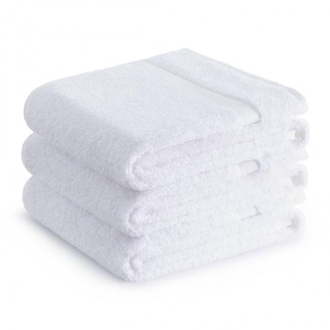 Zestaw ręczników hotelowych, 100% bawełny - 3 sztuki, 70x140cm, białe