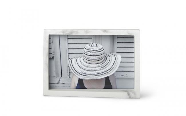 Ramka na zdjęcie - kolor biały marmur