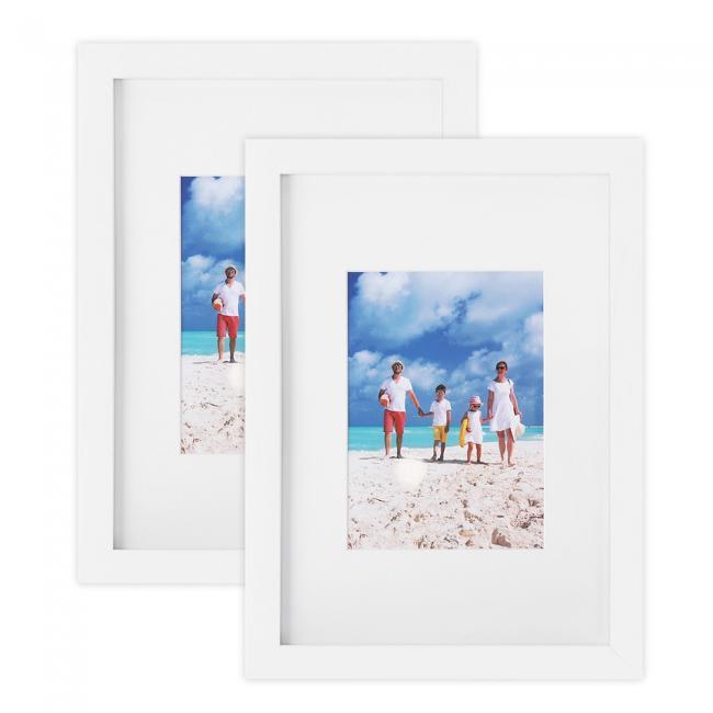 Zestaw 2 ramek na zdjęcia - białe
