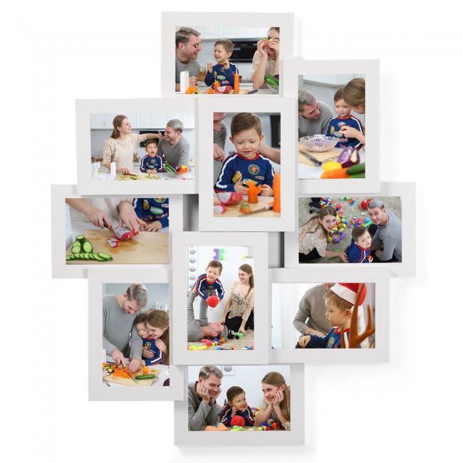 Zestaw 10 ramek na zdjęcia - białe