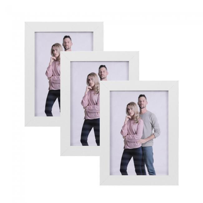 Zestaw 3 ramek na zdjęcia - białe