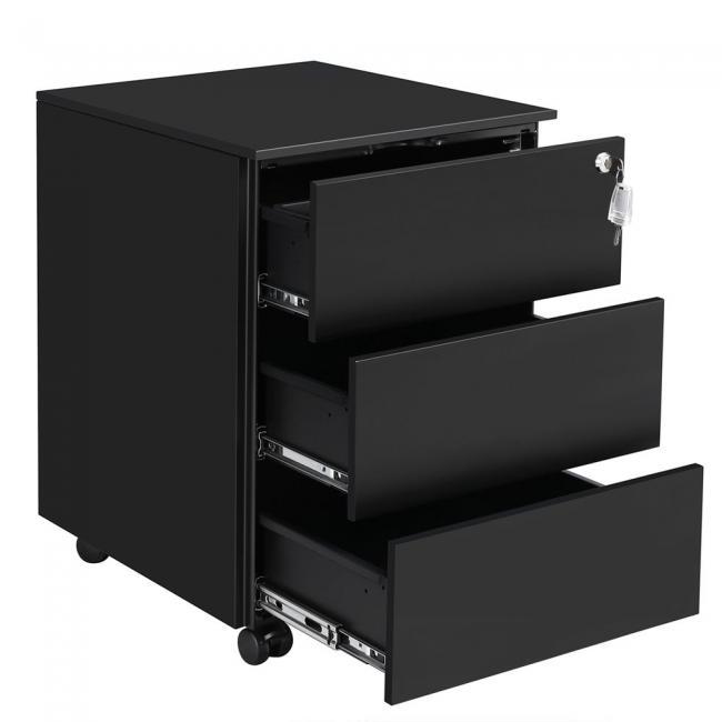 Metalowa szafka z 3 szufladami