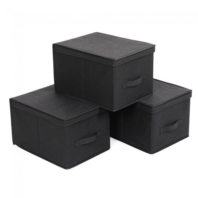 Pojemnik do przechowywania - 3 częsci, czarny