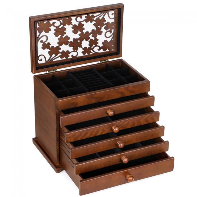 Szafka z szufladkami na biżuterię