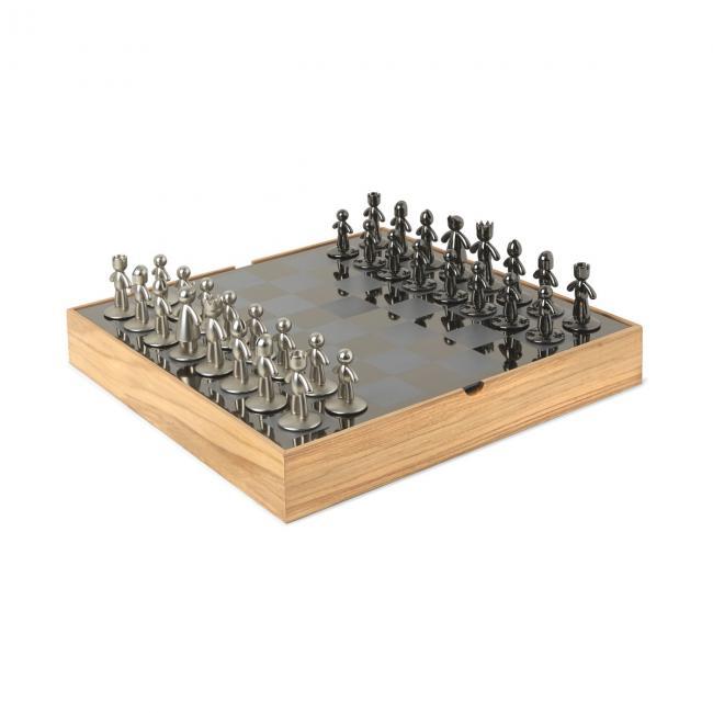 Zestaw do gry w szachy Jasne Drewno BUDDY