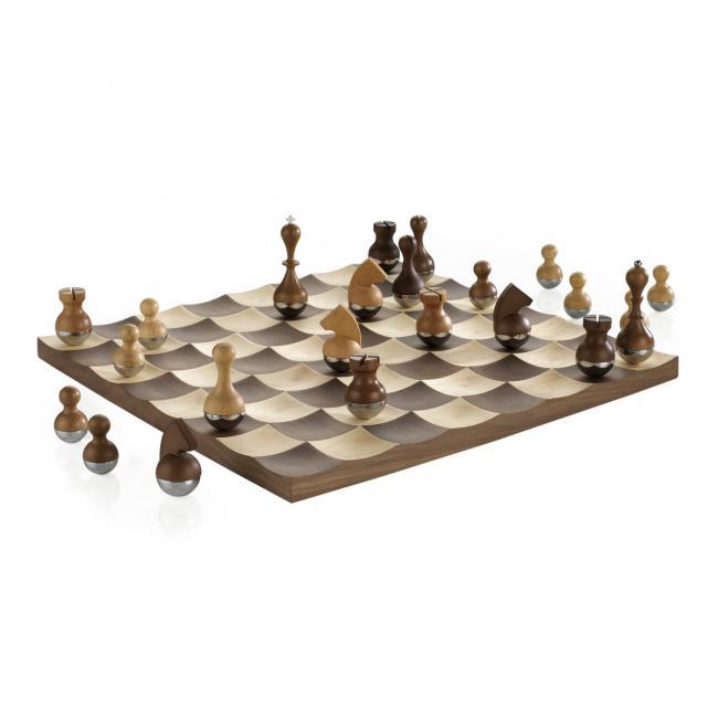 Zestaw do gry w szachy Ciemne Drewno BUDDY