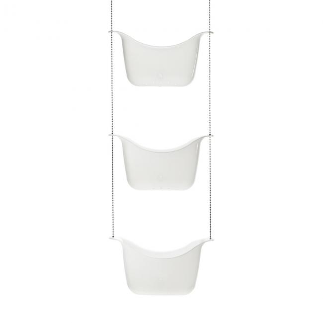 Półka do łazienki potrójna, biała