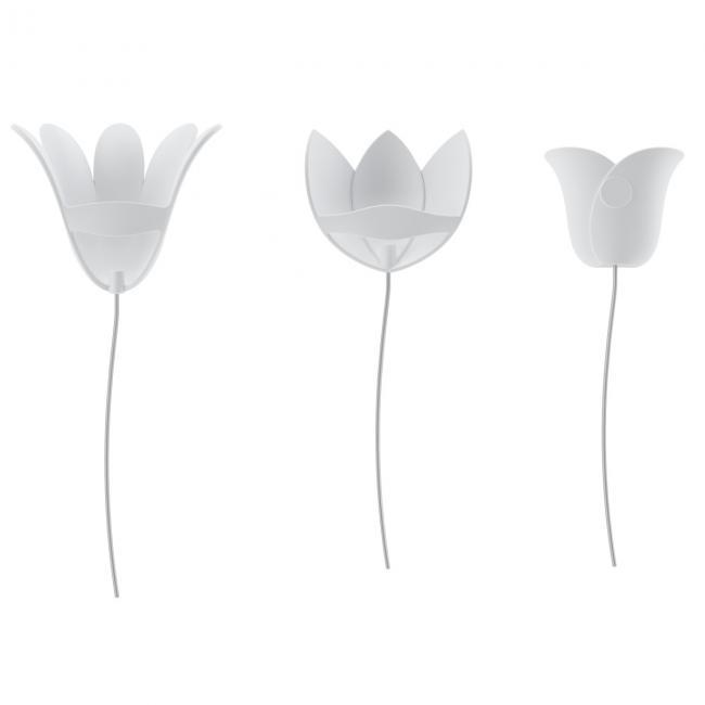 Dekoracje na ścianę, kwiaty - 9 sztuk