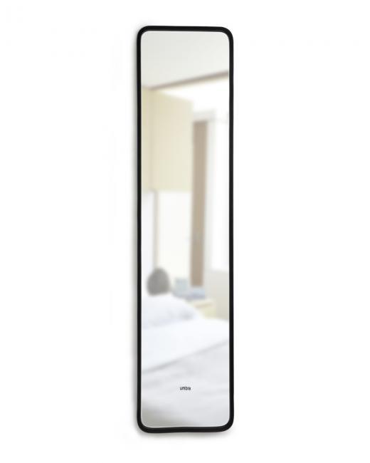 Lustro 157x37 cm, czarna ramka, stojące
