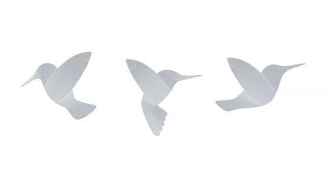 Dekoracje ścienne 3D - kolibry