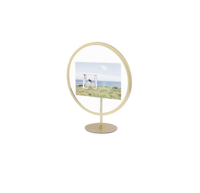 Ramka na obraz okrągła - kolor mosiądz mosiądz