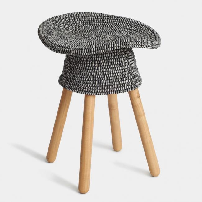 Taboret/stołek, szary