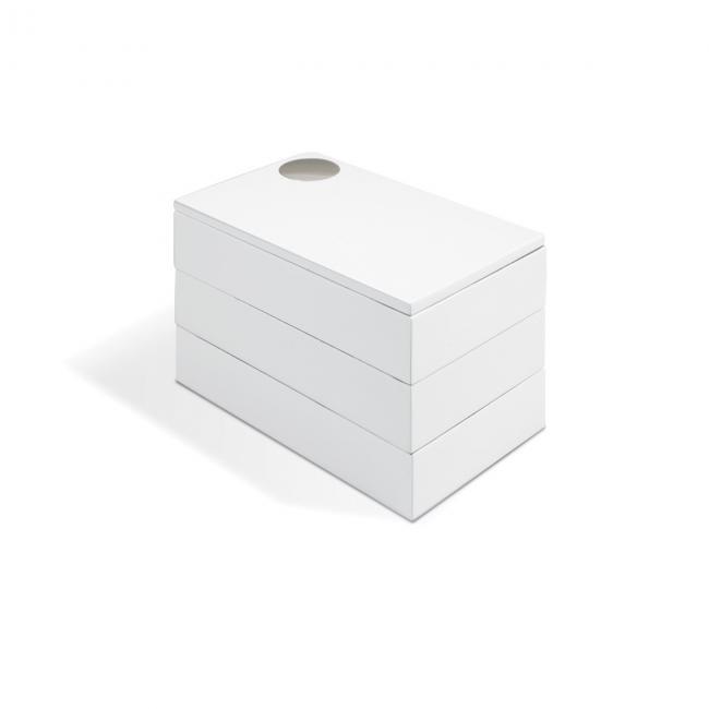 Pudełko na biżuterię SPINDLE- Białe