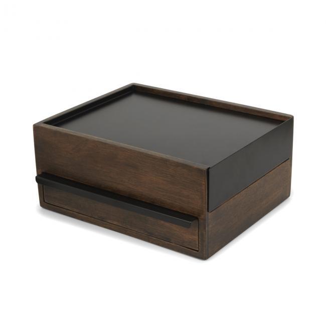 Stylowe Pudełko na biżuterię  STOWIT- ciemnobrązowe