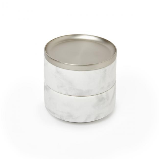 Szkatułka na biżuterię Biały Marmur TESORA