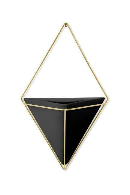 Doniczka ścienna - czarno złota