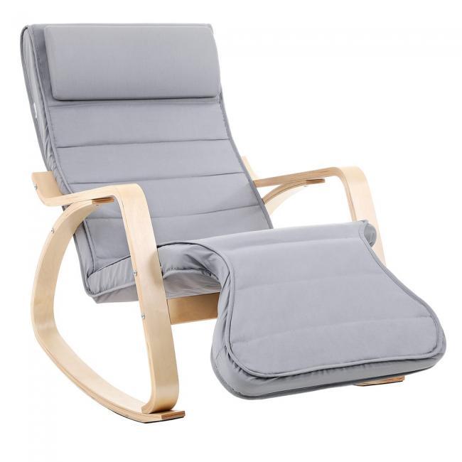 Fotel z podnóżkiem bujany