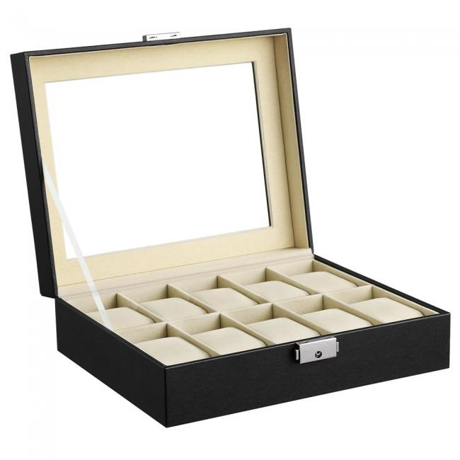 Pudełko na zegarki- czarne