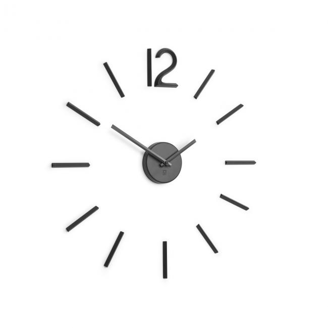 Dekoracyjny zegar ścienny Czarny