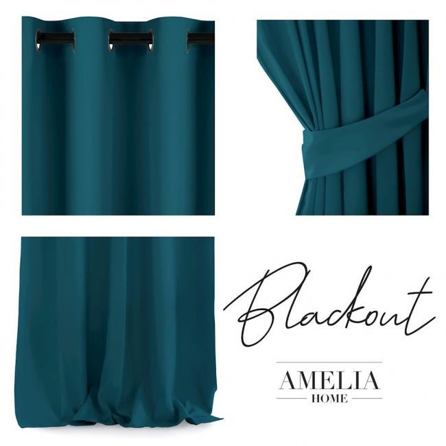 AmeliaHome - Zasłona na przelotkach - 140x270 - niebieska