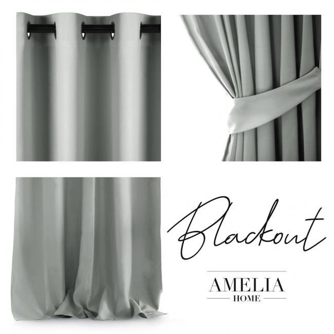 AmeliaHome - Zasłona na przelotkach - 140x270 - beżowa