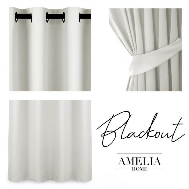 AmeliaHome - Zasłona na przelotkach - 140x175 - biała